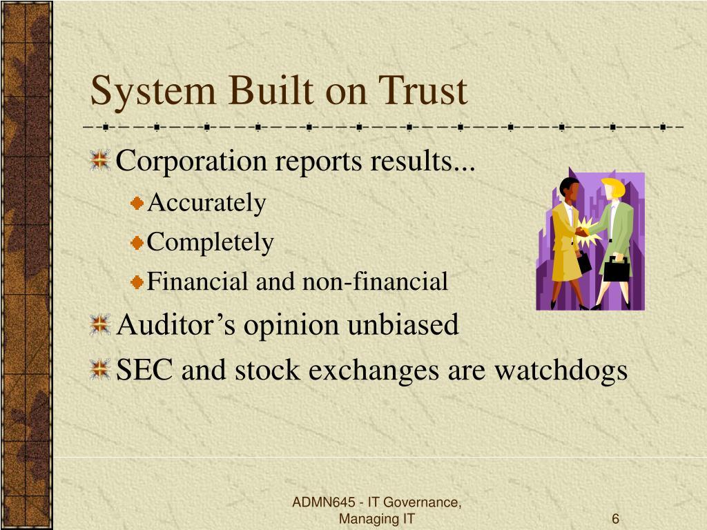System Built on Trust
