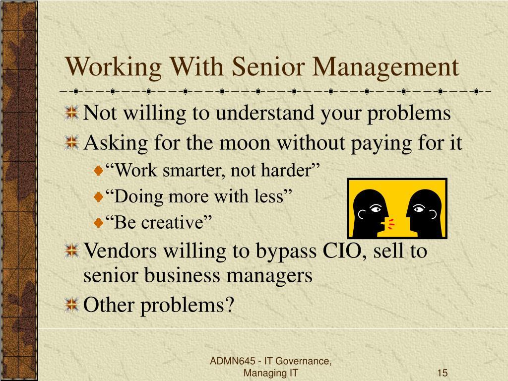 Working With Senior Management