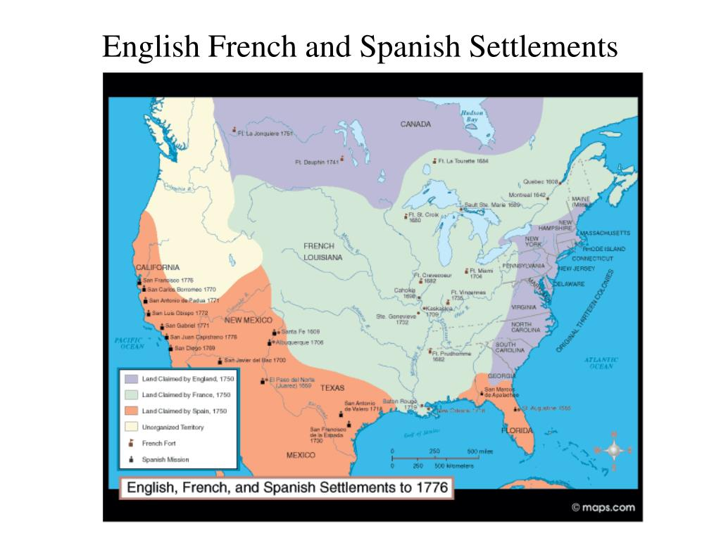English French and Spanish Settlements