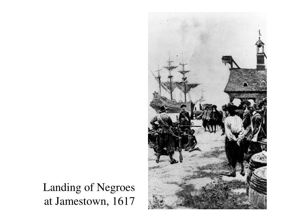 Landing of Negroes