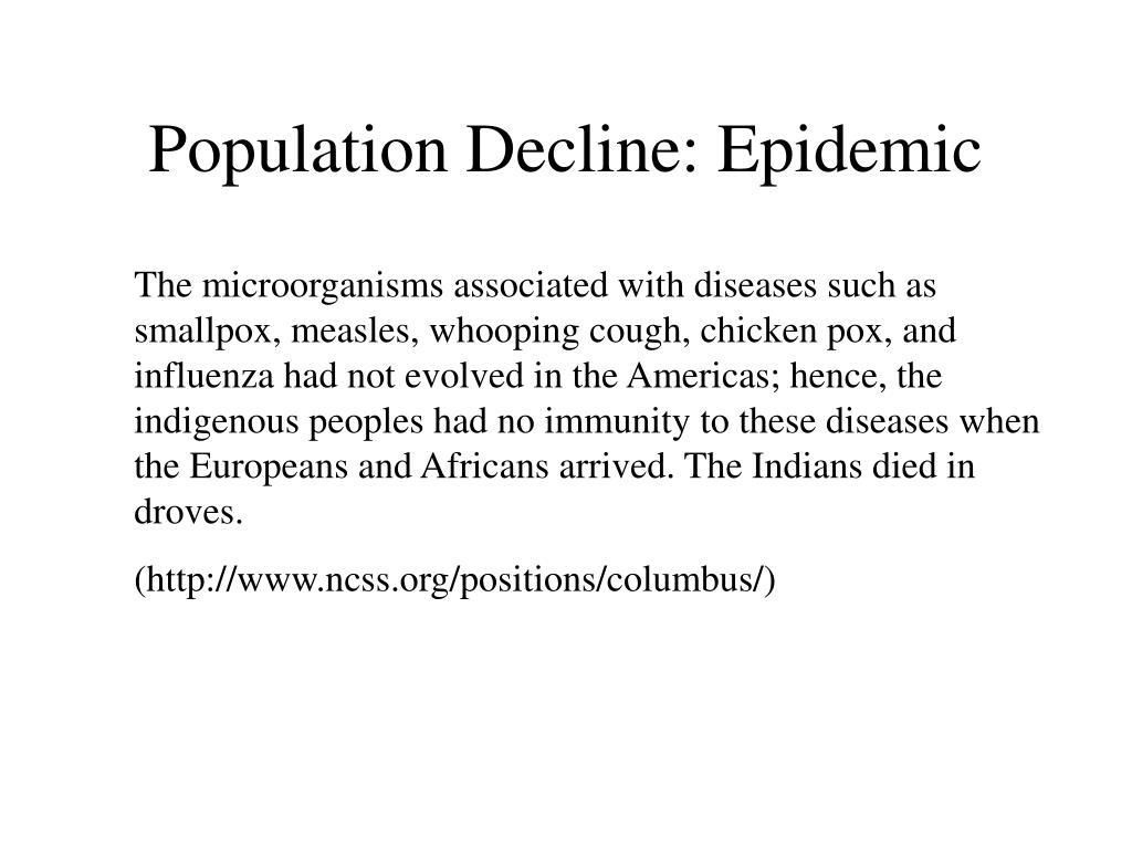 Population Decline: Epidemic