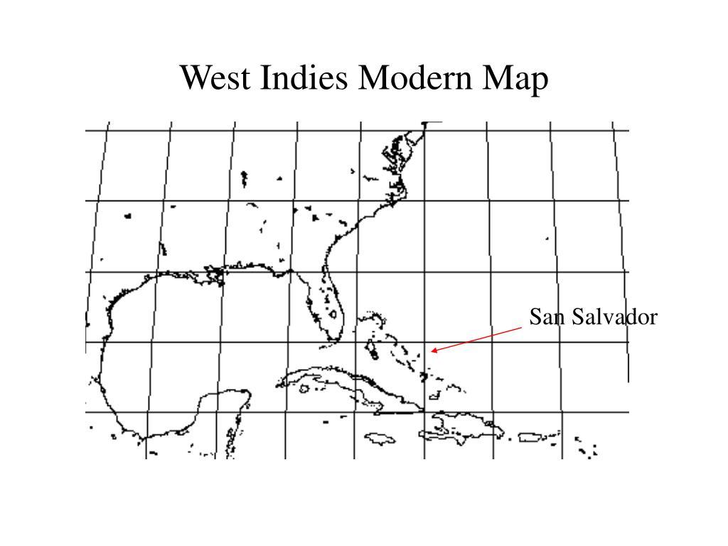 West Indies Modern Map