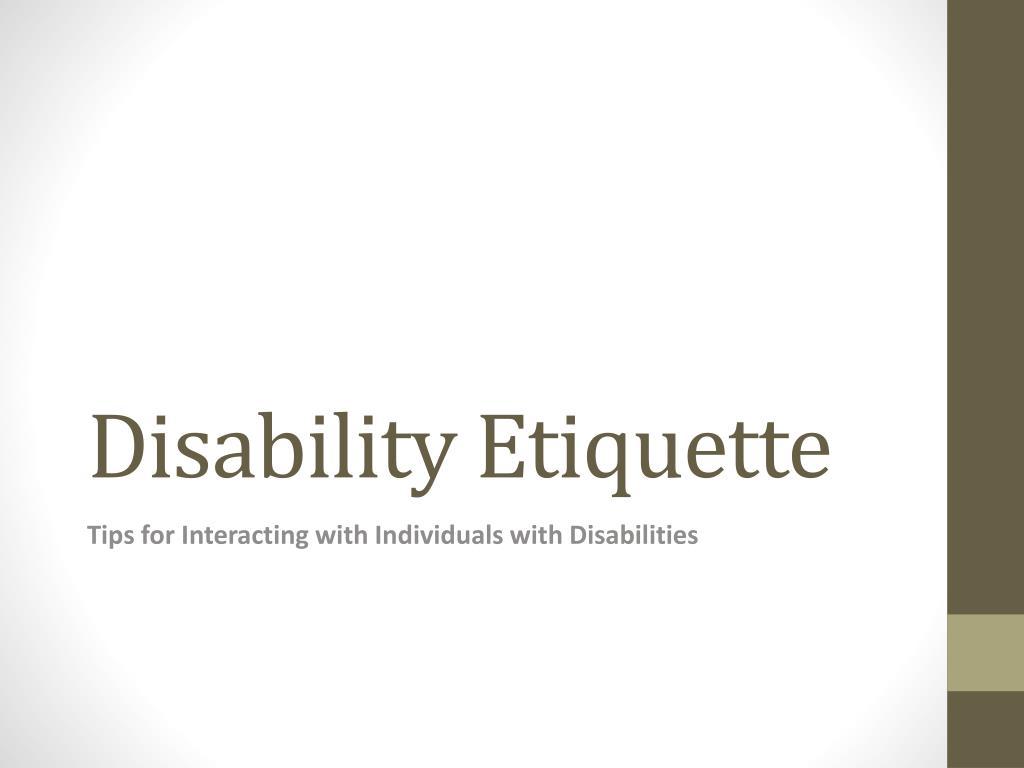 disability etiquette l.