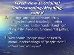 fixed view 1 original understanding meaning cont d27