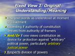 fixed view 1 original understanding meaning