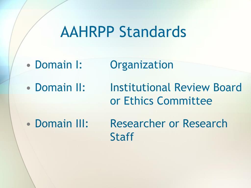AAHRPP Standards