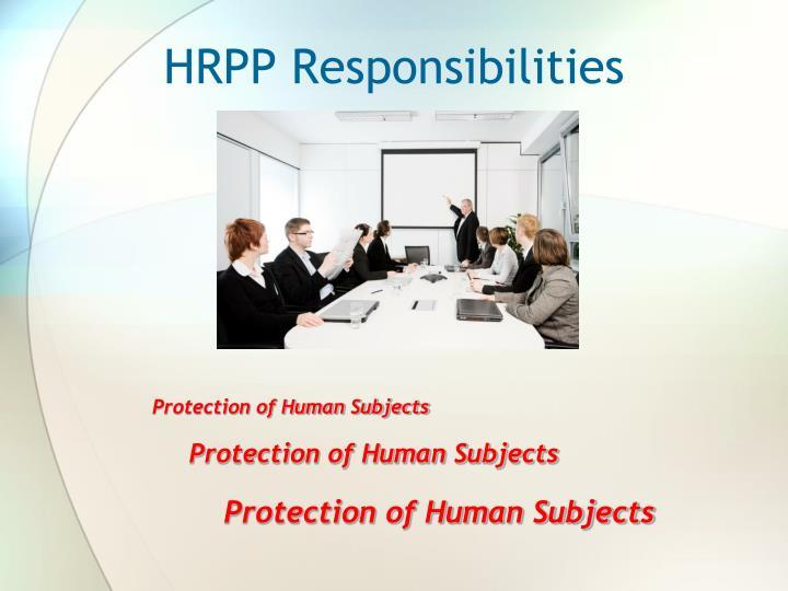 Hrpp responsibilities