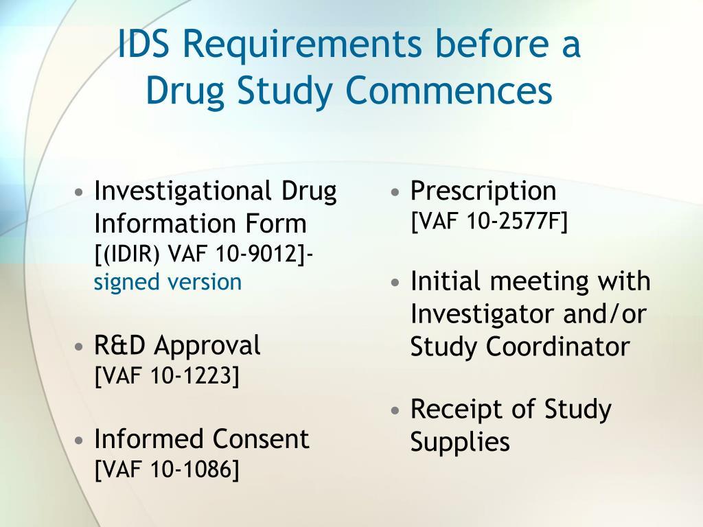 Investigational Drug Information Form