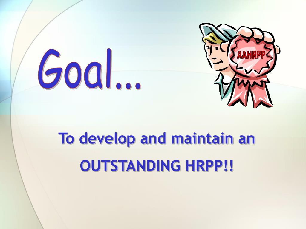 Goal...