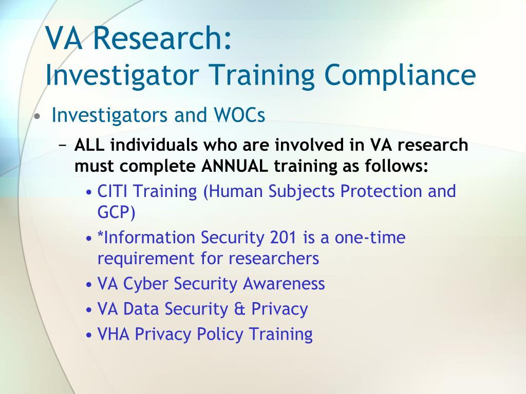 VA Research: