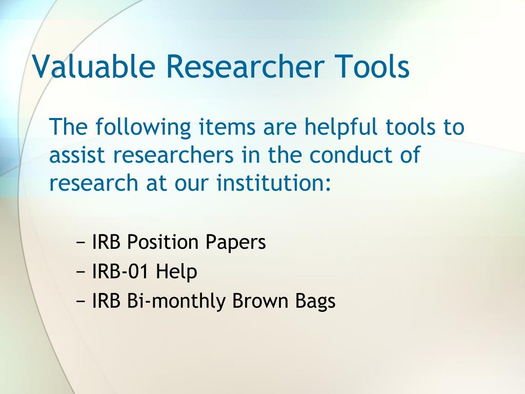 Valuable Researcher Tools