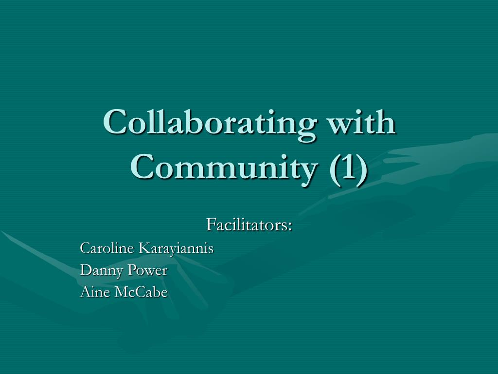 collaborating with community 1 l.