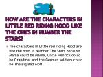how are the characters in little red riding hood like the ones in number the stars