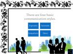 there are four basic communication styles
