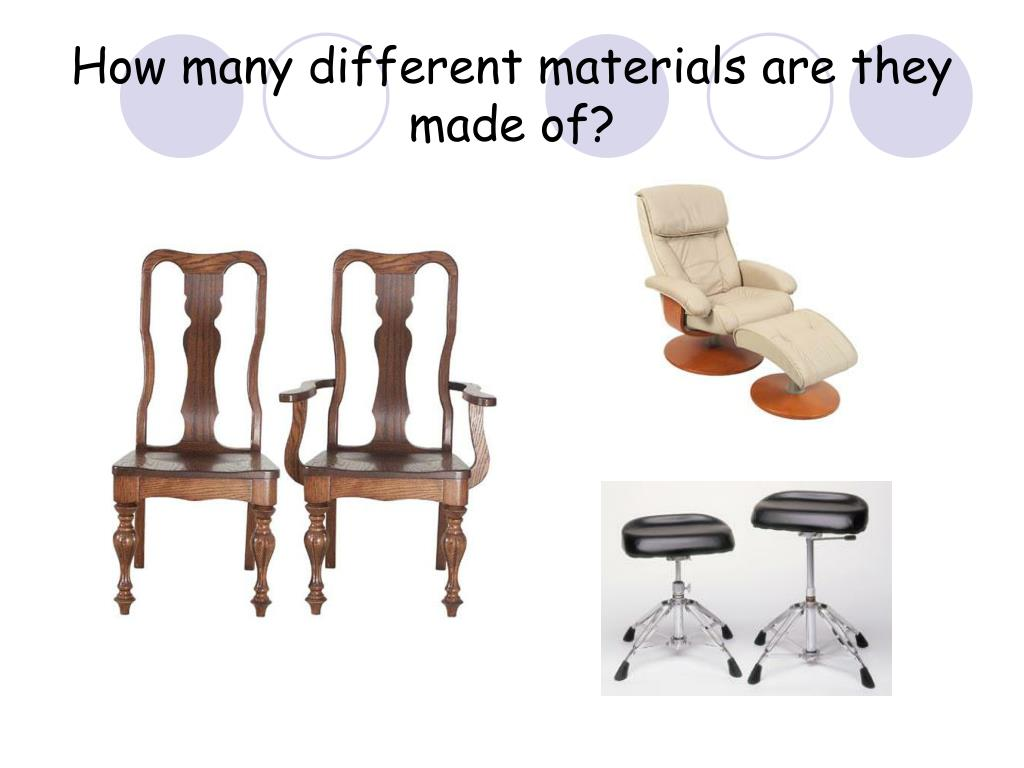 How many different materials are they made of?