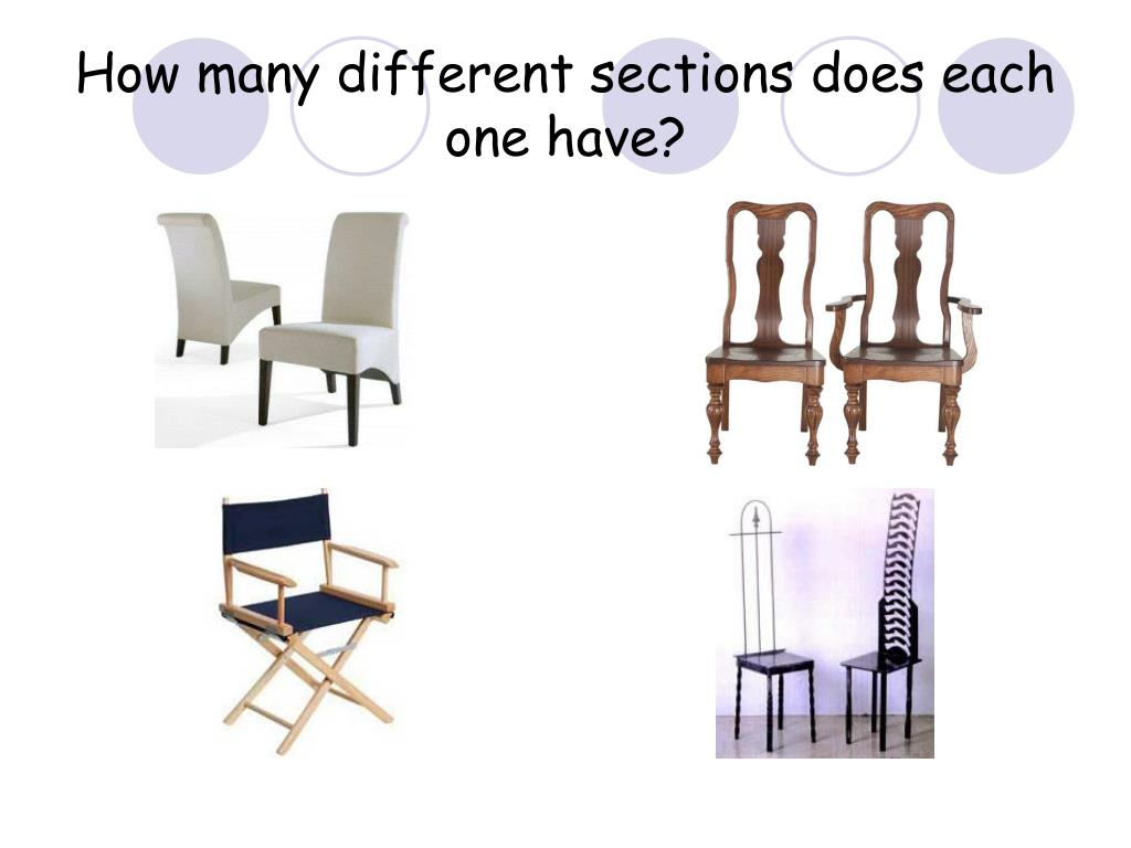 How many different sections does each one have?