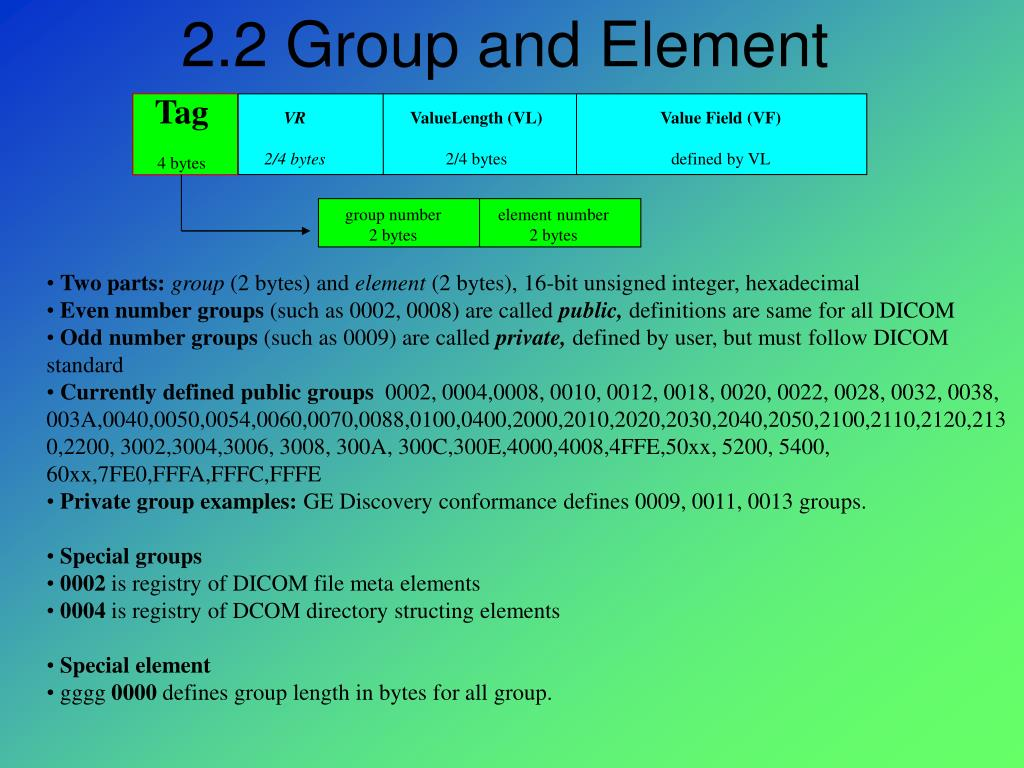 2.2 Group and Element