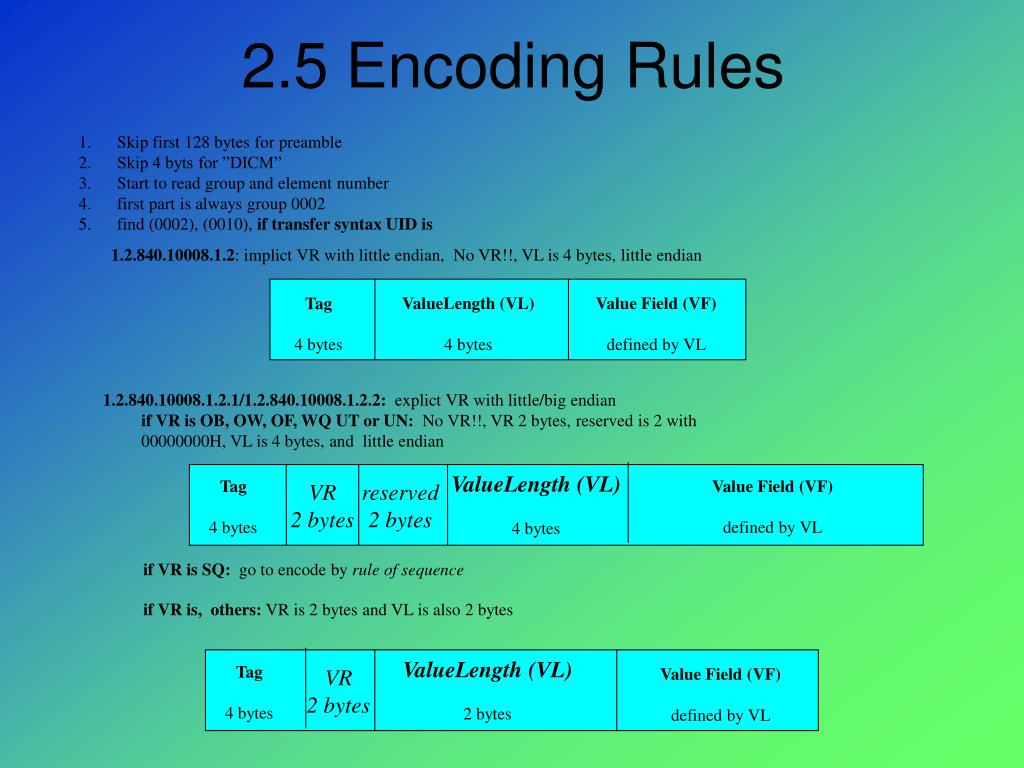 2.5 Encoding Rules