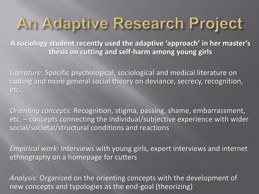 An Adaptive Research Project