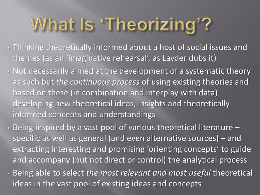 What Is 'Theorizing'?