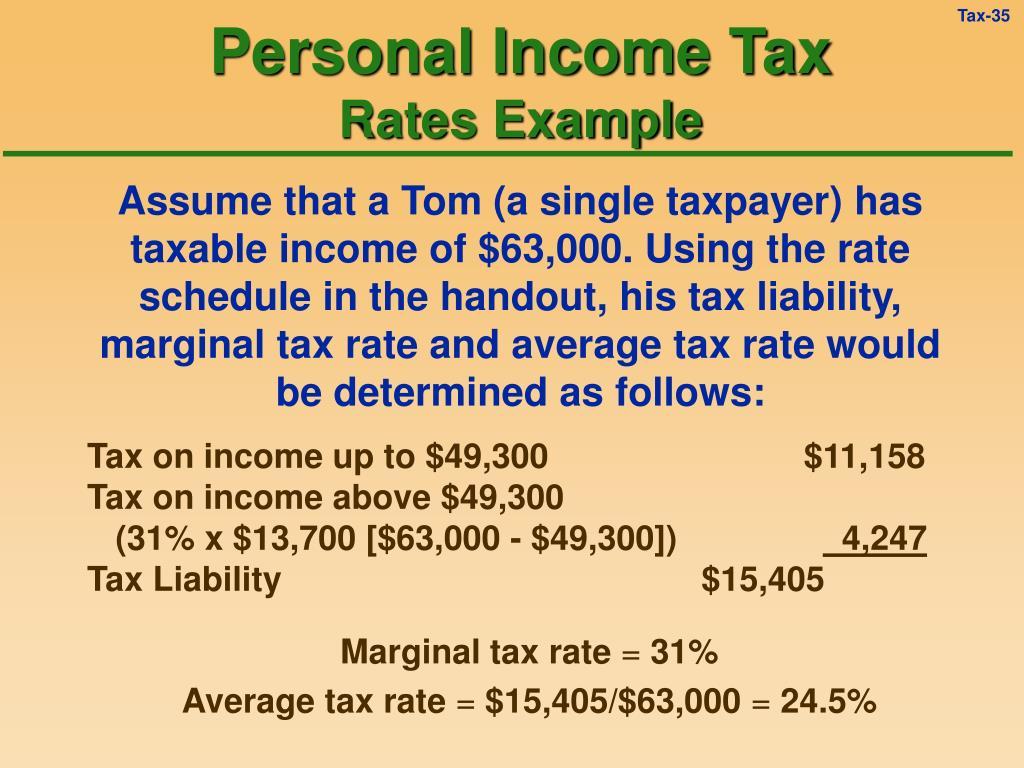 Personal Income Tax