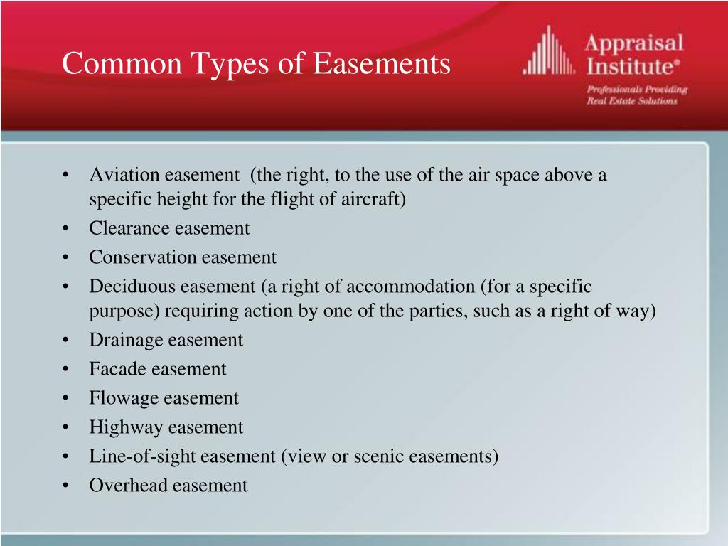 Common Types of Easements