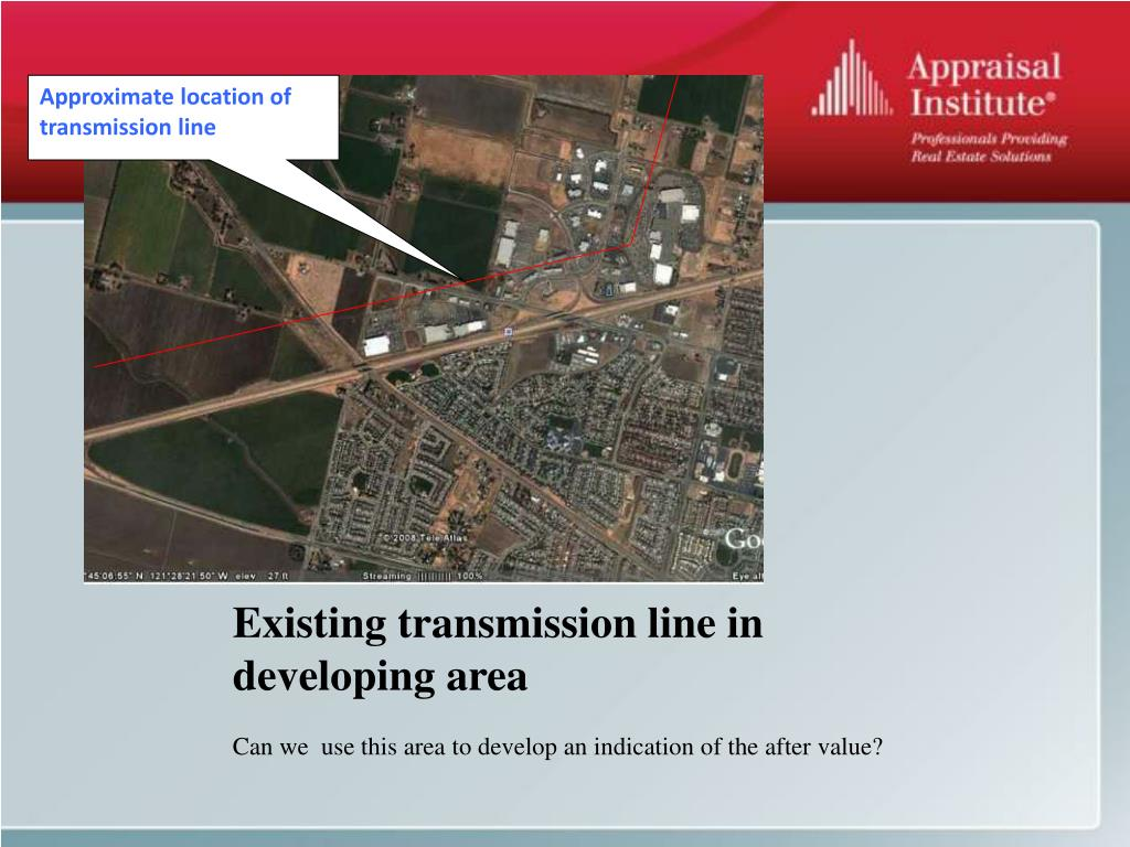 Approximate location of transmission line