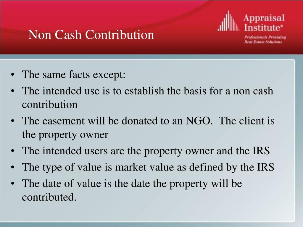 Non Cash Contribution