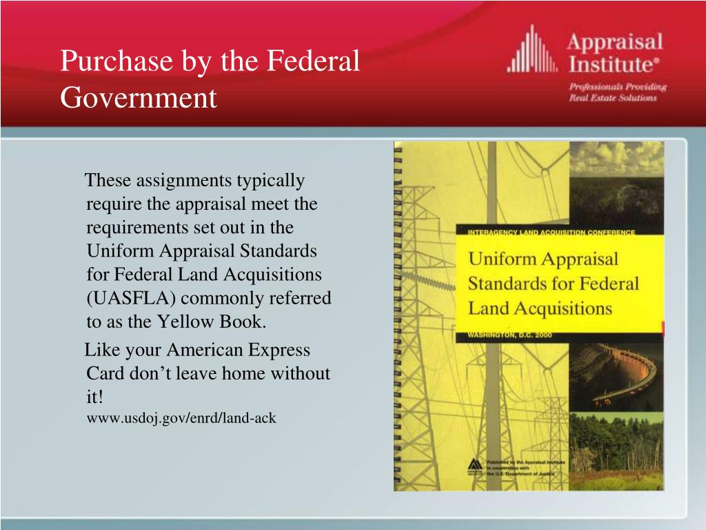 Purchase by the Federal Government