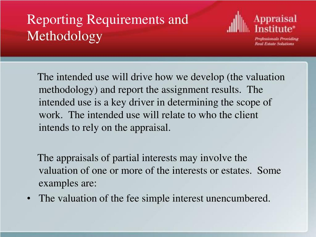 Reporting Requirements and Methodology