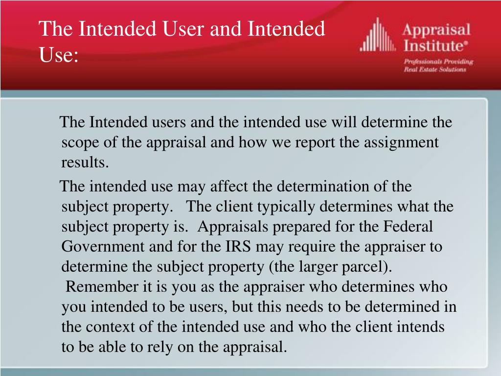 The Intended User and Intended Use: