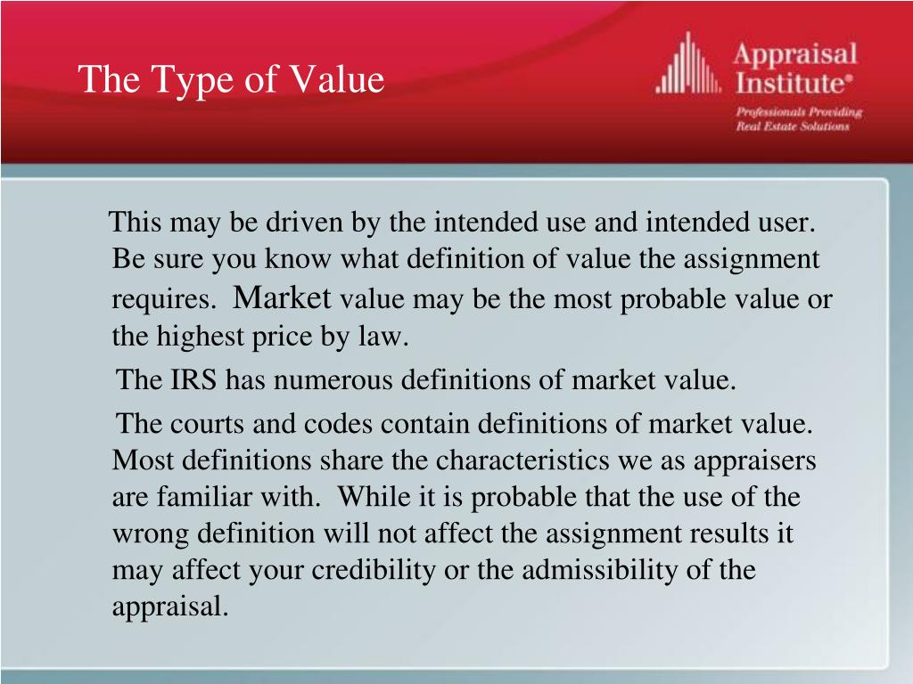 The Type of Value