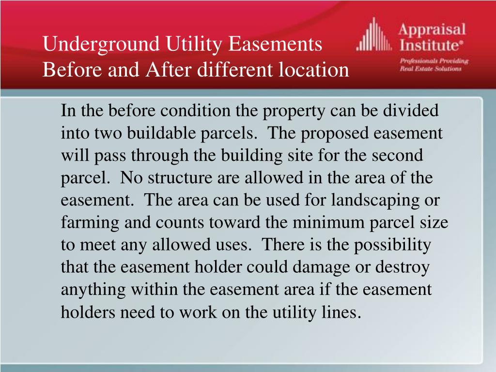 Underground Utility Easements