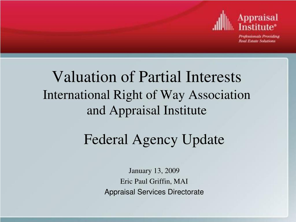 Valuation of Partial Interests