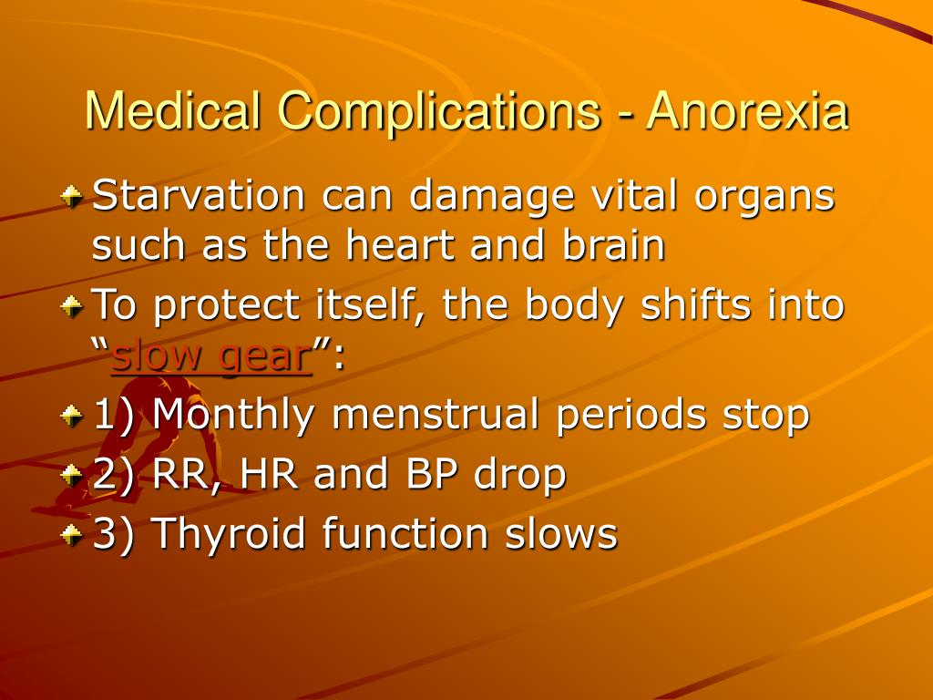 Medical Complications - Anorexia
