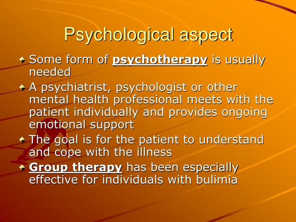 Psychological aspect