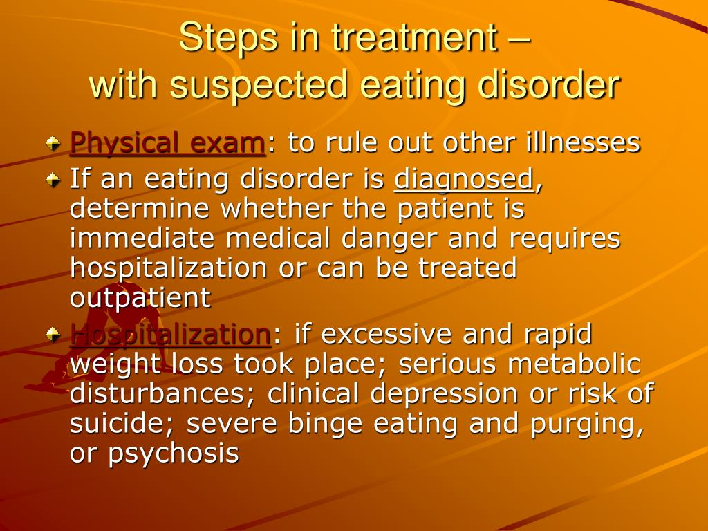 Steps in treatment –