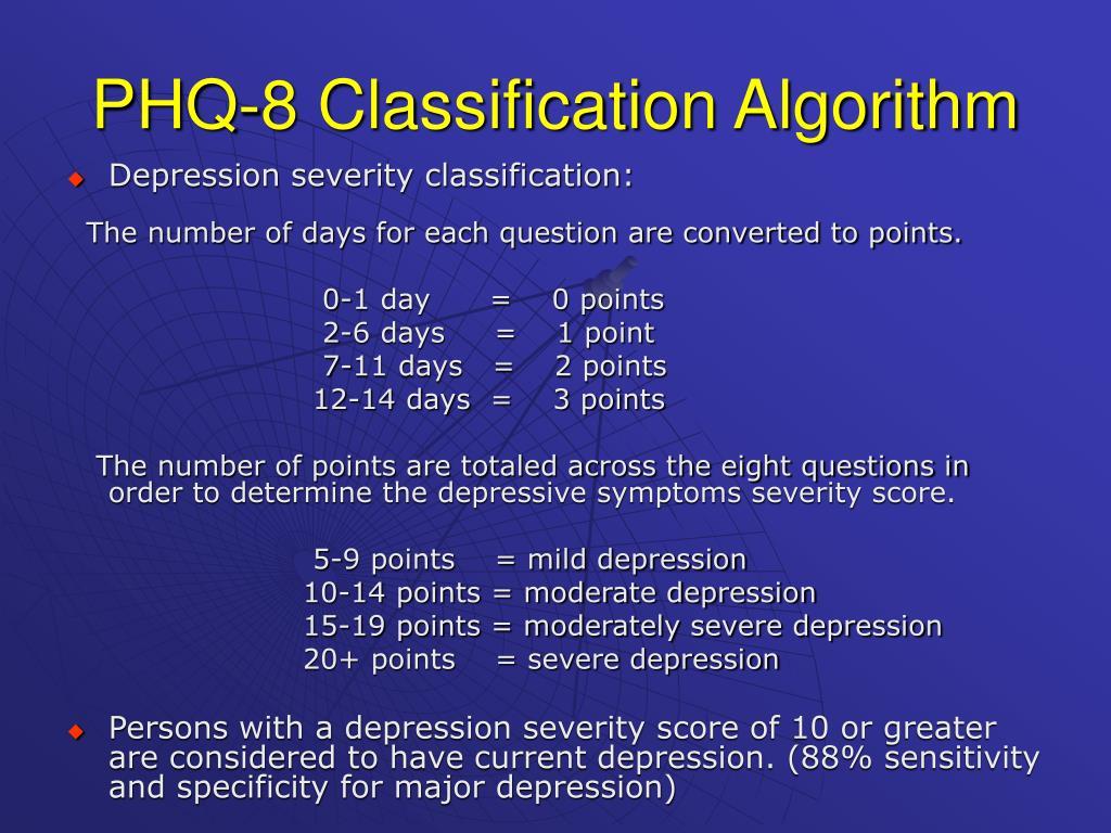 PHQ-8 Classification Algorithm