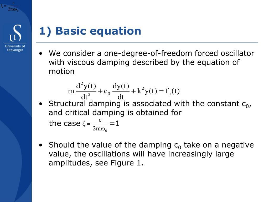1) Basic equation