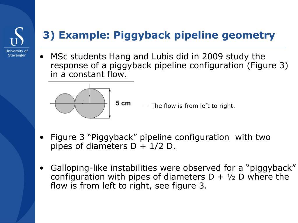 3) Example: Piggyback pipeline geometry