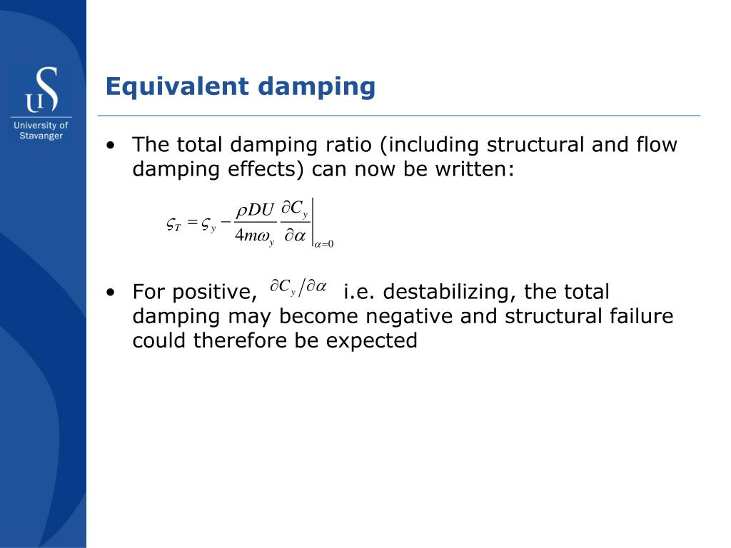 Equivalent damping