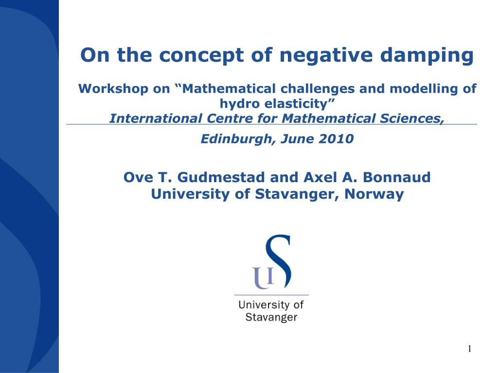 On the concept of negative damping
