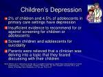 children s depression