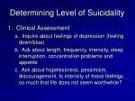 determining level of suicidality