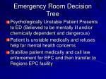 emergency room decision tree