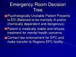 emergency room decision tree60