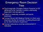 emergency room decision tree61
