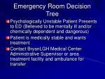 emergency room decision tree62