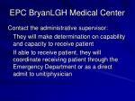 epc bryanlgh medical center
