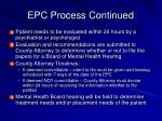 epc process continued